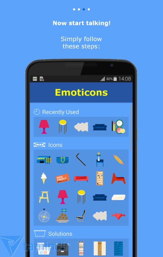 ikea emoticons ndir android in emoticon ve klavye uygulamas mobil tamindir. Black Bedroom Furniture Sets. Home Design Ideas