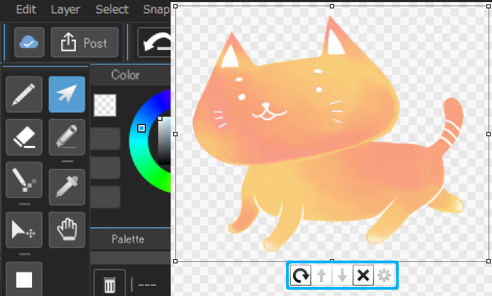 how to delete a layer in medibang