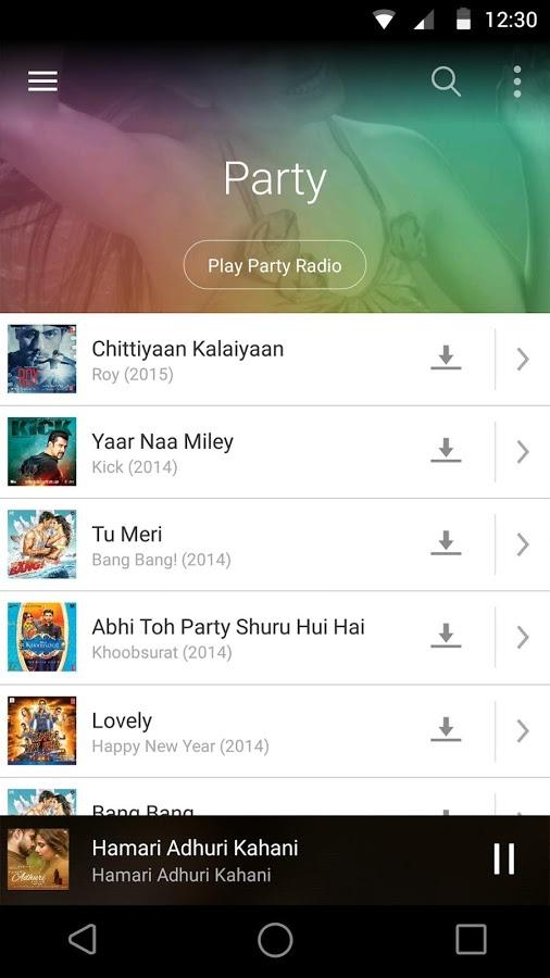 Saavn Indir Android Için Bollywood Ve Hint Müzikleri Uygulaması