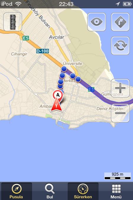 Yandex trafik durumu - eba