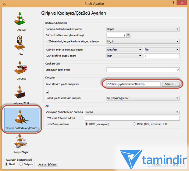VLC Media Player ile Video Kırpma - Tamindir