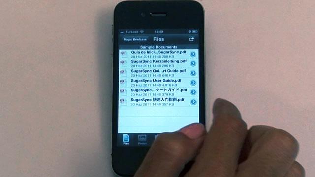 iPhone ve iPad İçin SugarSync Dosya Erişim Uygulaması