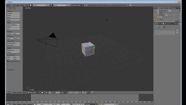 Blender Kurulumu ve Program İçi Görüntüleri