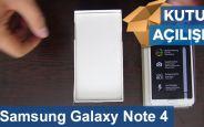 Samsung Galaxy Note 4 Kutu Açılışı