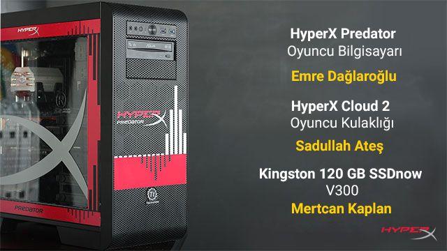 HyperX Predator Oyuncu Bilgisayarı Kazanan Belli Oldu!
