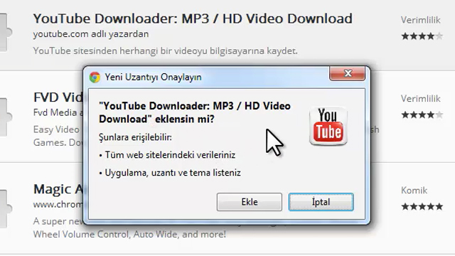 Google Chrome ile YouTube'dan Video İndirme