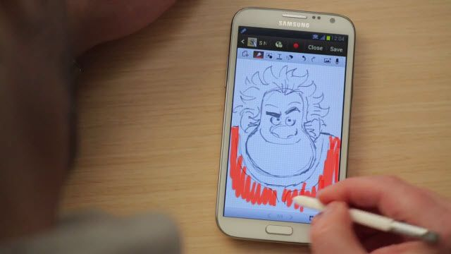 Galaxy Note 2 ile Oyunbozan Ralph Çizimi
