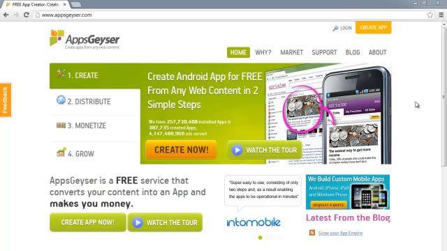 AppsGeyser ile Android Uygulaması Nasıl Yapılır