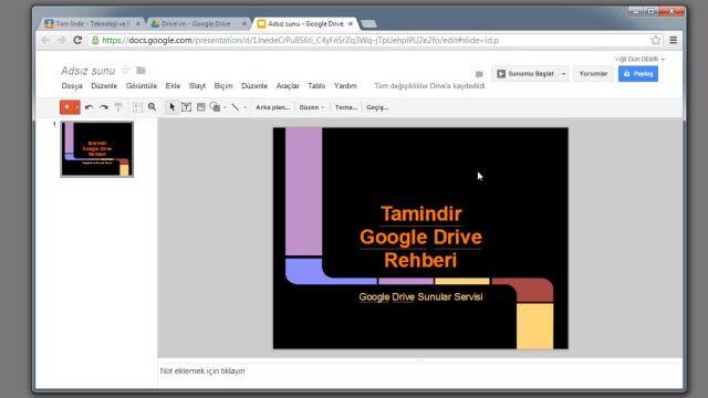Google Drive ile Sunum Nasıl Yapılır