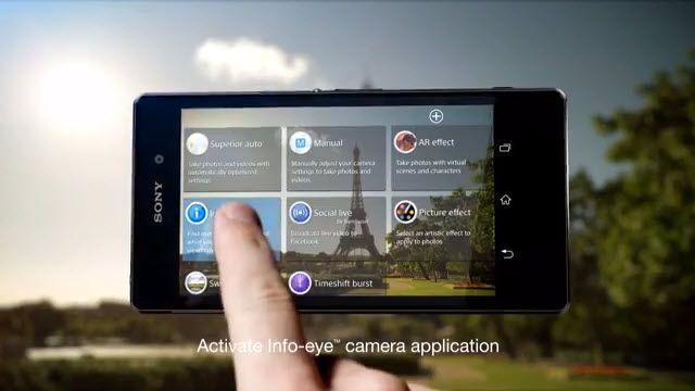 Xperia Z1 - Info-Eye Özelliği