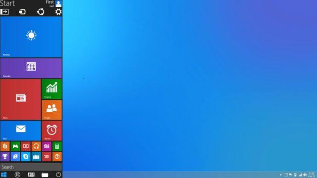 Başlat Menüsüne Sahip Windows 9 Tasarımı